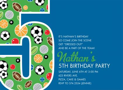 5th Birthday Party Invitation Wording Ideas For Boys