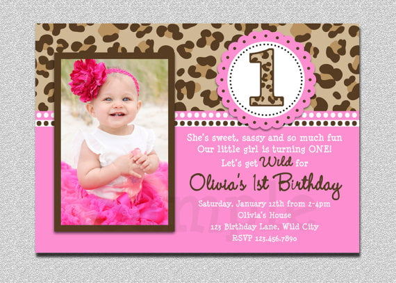 baby girl st birthday invitations  drevio invitations design, Birthday invitations