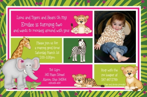 Custom Design 2nd Birthday Party Invitation Wording
