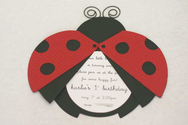DIY Ladybug Birthday Invitation Templates