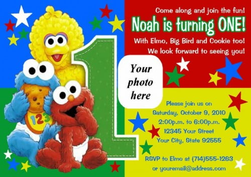 elmo sesame birthday invitations drevio