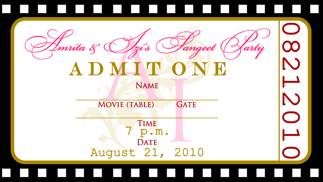 Free templates for birthday invitations drevio for Ticket invitation template free
