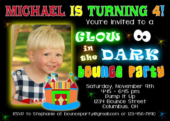 Glow In The Dark Birthday Invitation Wording Ideas