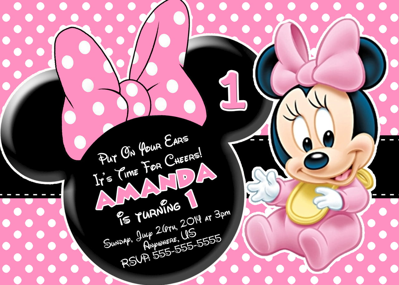 Minnie Mouse Photo Birthday Invitations could be nice ideas for your invitation template