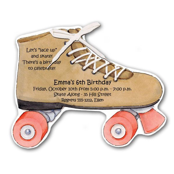 Free Printable Roller Skating Birthday Party Invitations for luxury invitation ideas