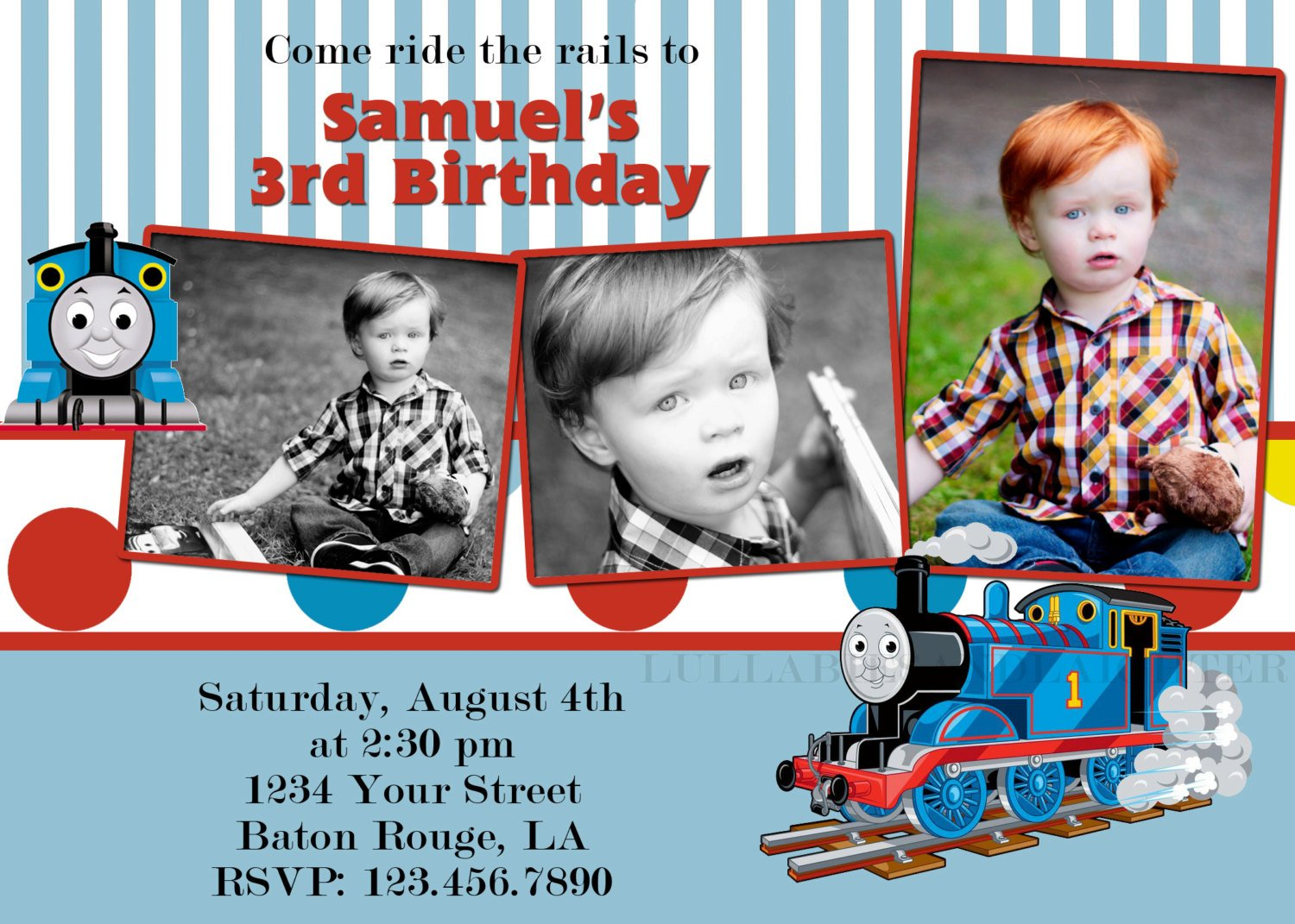 thomas birthday invitations personalized | alesi, Birthday invitations