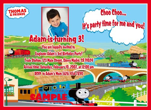 Thomas Train Invitations – Thomas the Train Birthday Invites