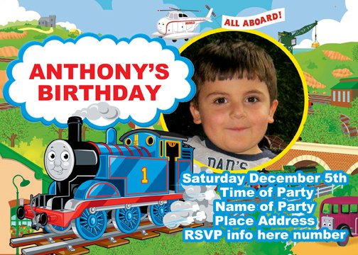 thomas the train birthday party invitations  drevio invitations, Birthday invitations