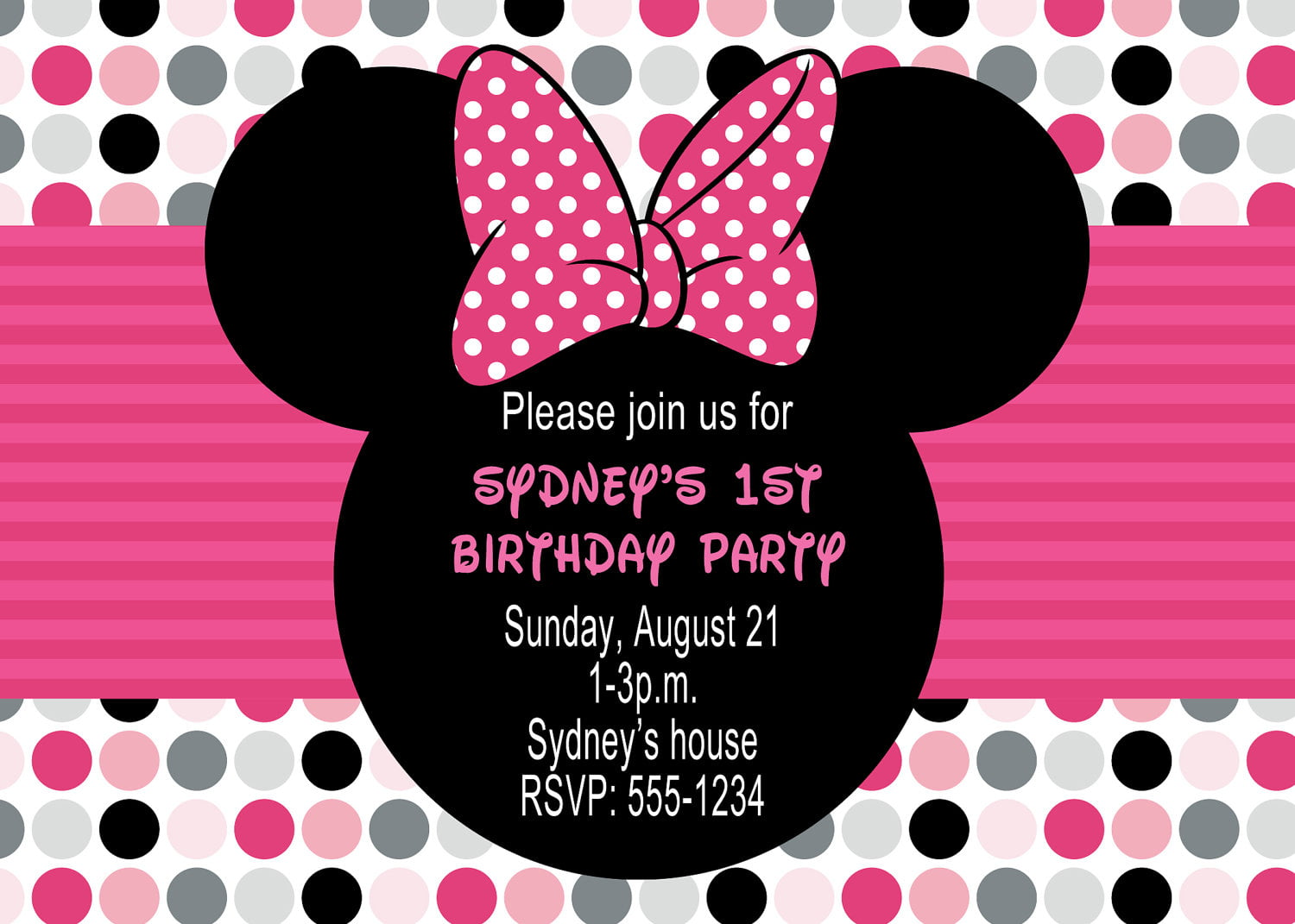 Minnie Mouse Photo Birthday Invitations absolutely amazing ideas for your invitation example