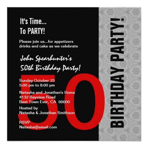 quotes funny 50th birthday party invitations