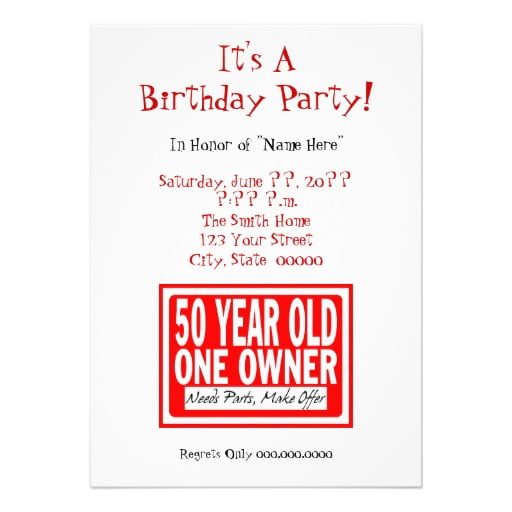 th birthday party invitation funny  unique wedding invitations, Birthday invitations
