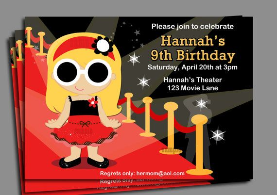 runaway fashion show birthday party invitations
