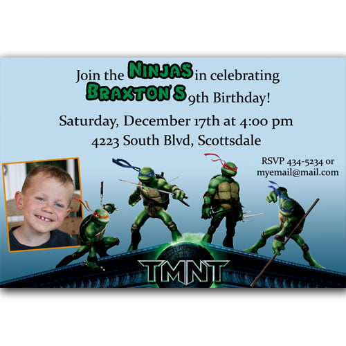 pictures teenage mutant ninja turtles birthday invitations