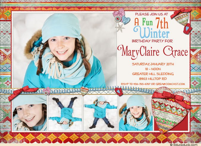 pictures 7th birthday invitations wording