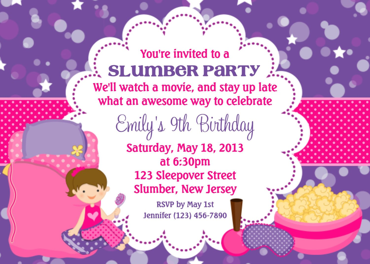 girls invitations quotes for birthday party