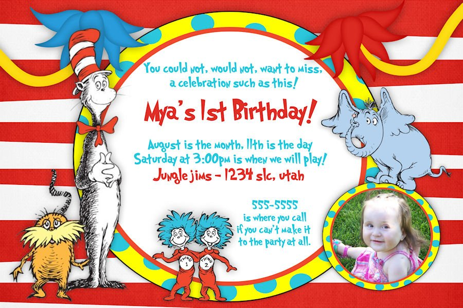 lorax free printable dr seuss birthday invitations