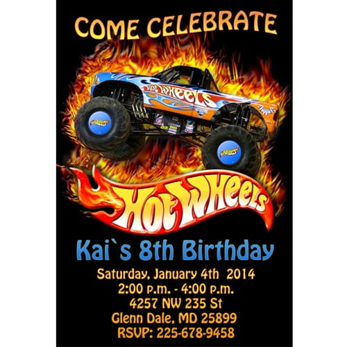 Hot Wheels Birthday Party Invitations | Drevio Invitations Design