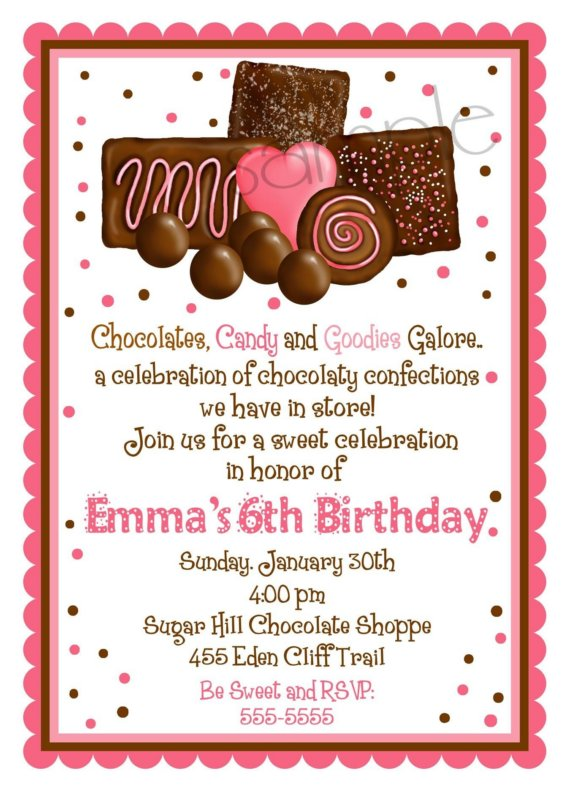 sweet invitations for a birthday party
