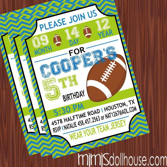 football birthday party invitations  wblqual, Birthday invitations