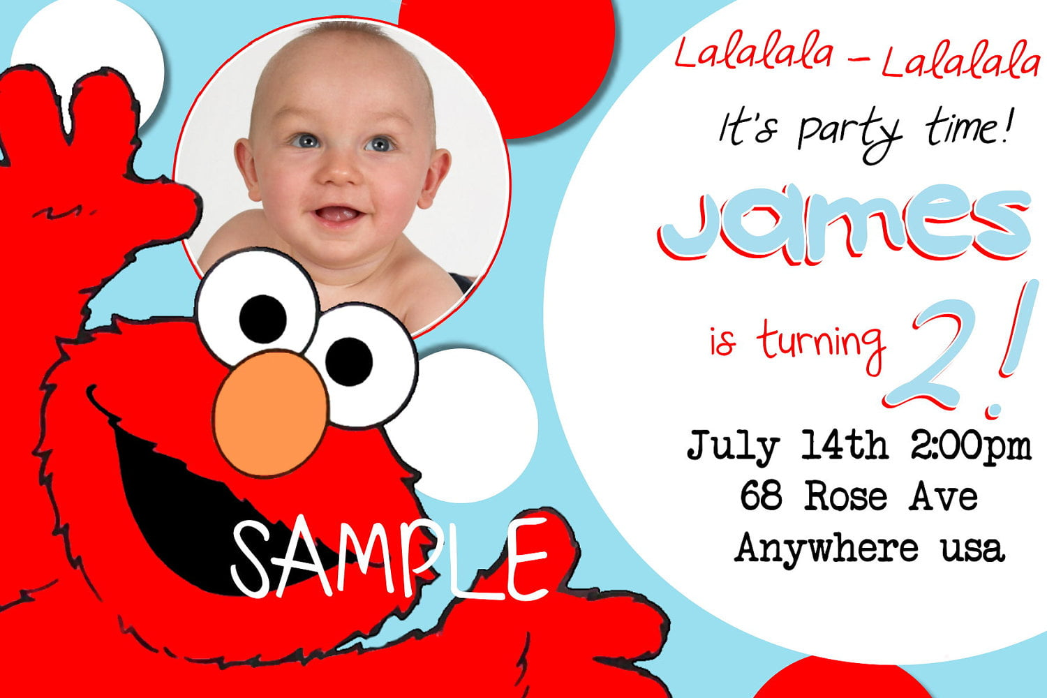 baby elmo birthday invitations with photo