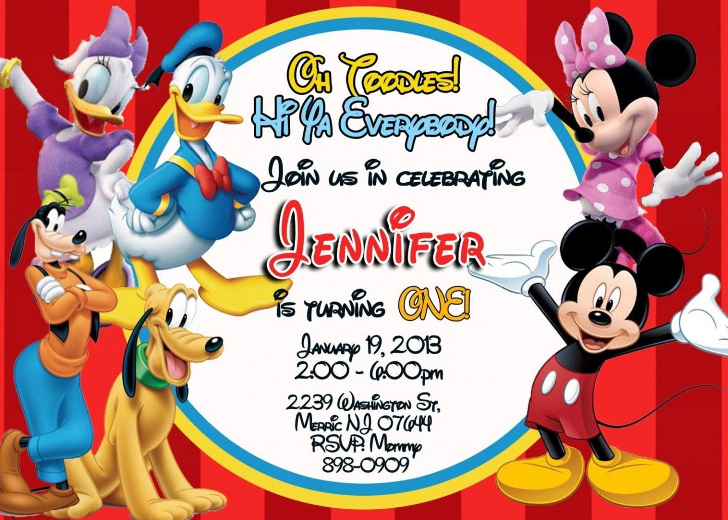 all mickey stars mickey mouse birthday invitations templates