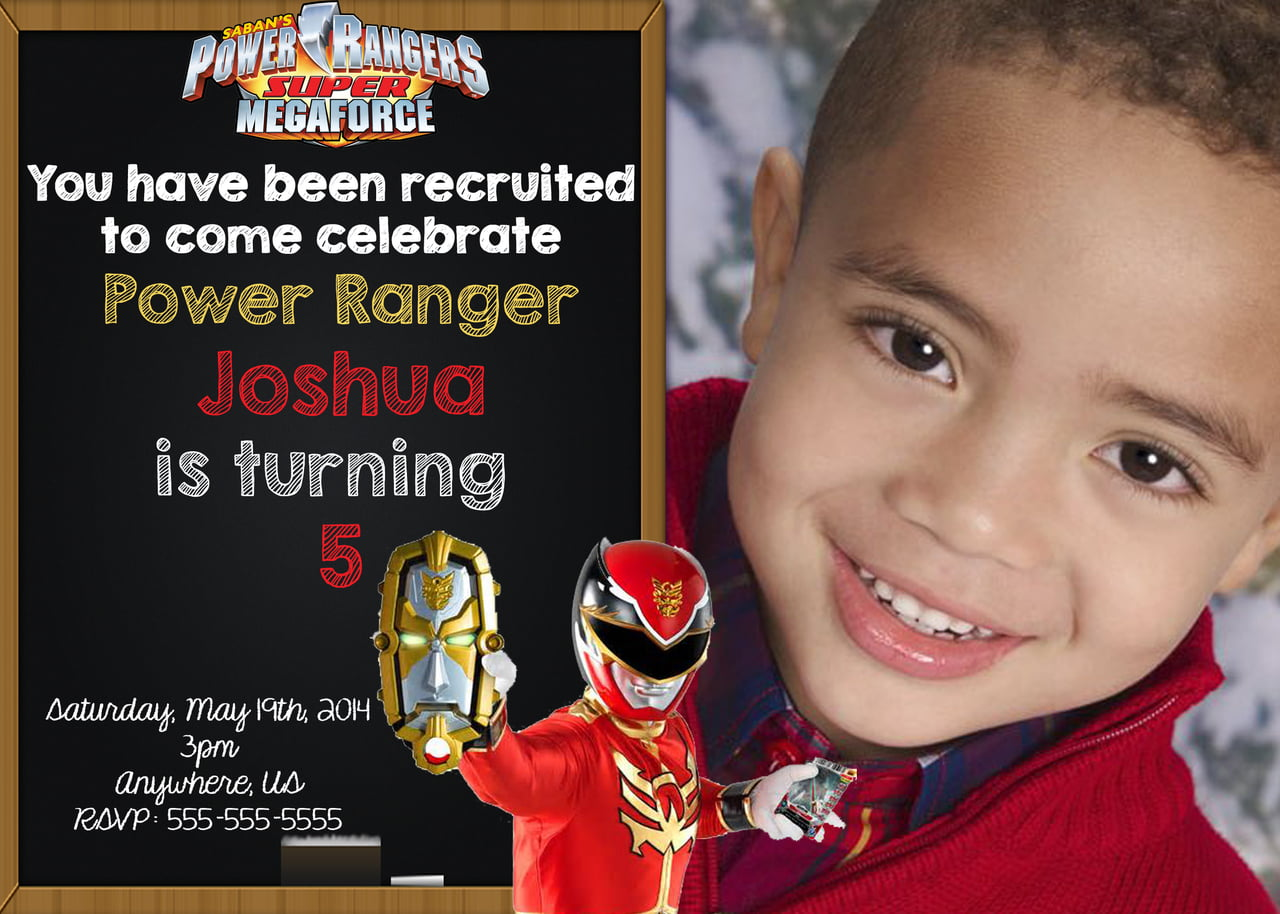Power Ranger Birthday Invitations is the best ideas you have to choose for invitation example