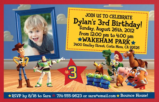 pictures free printable toy story birthday invitations