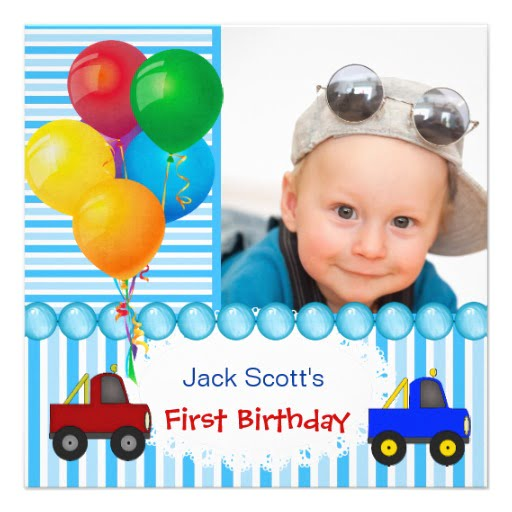 boy baby first birthday invitations wording