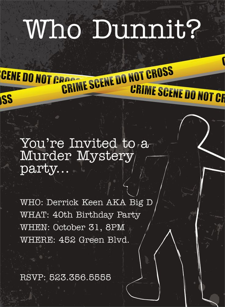 murdered free invitations for a birthday party