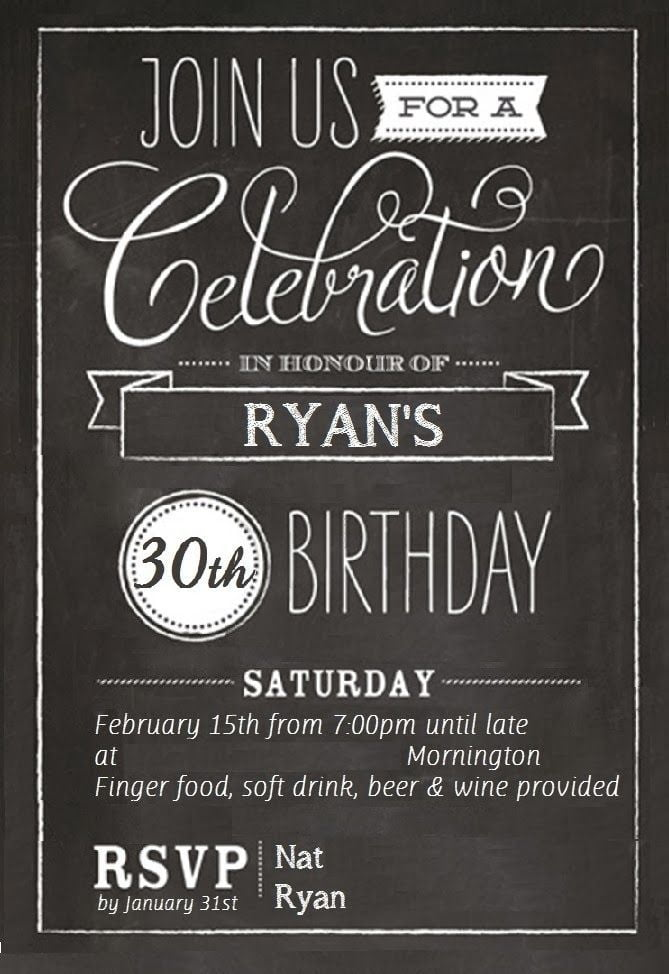 free th birthday invitations templates  drevio invitations design, Birthday invitations