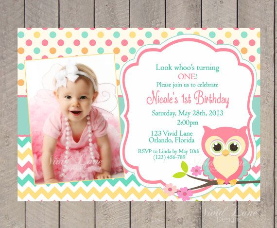 olw 1st birthday invitations for girls