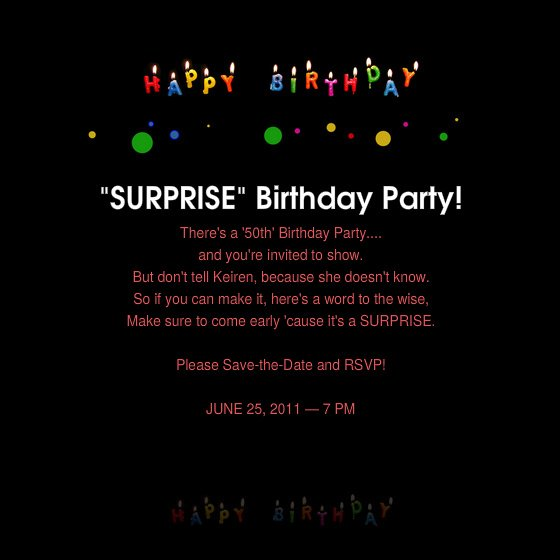 Surprise 50Th Birthday Party Invitations Templates as perfect invitation ideas