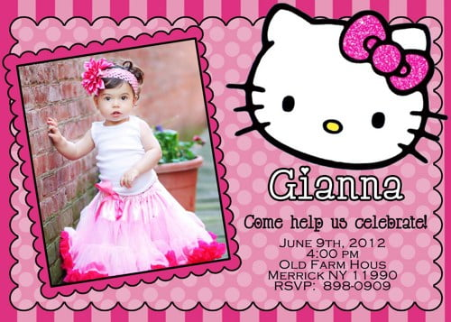 photos hello kitty birthday invitations free