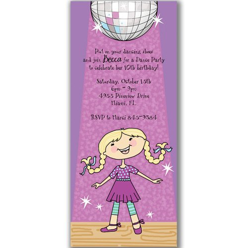 disco custom birthday invitations for adult