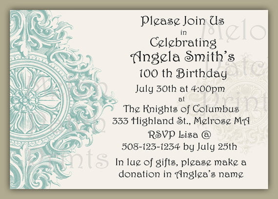 50Th Birthday Party Invitations For Her as beautiful invitation sample