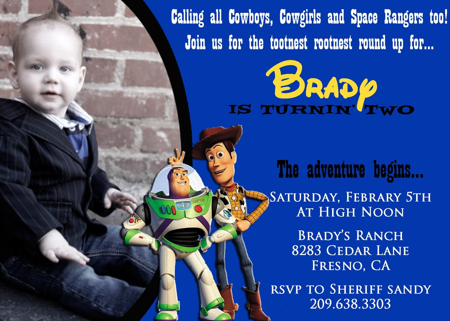woody free printable toy story birthday invitations