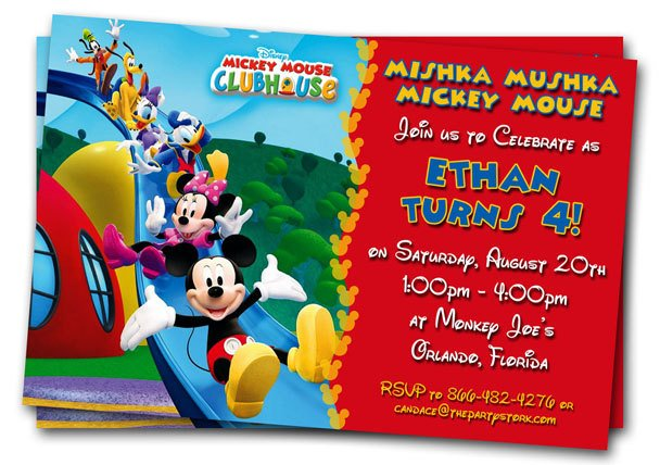 friends free printable mickey mouse invitations birthday