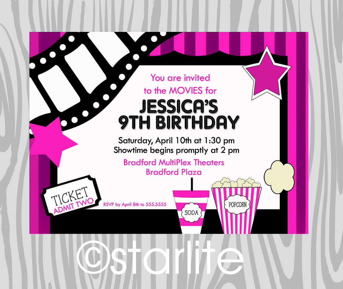 purple kids birthday party invitations templates free printable