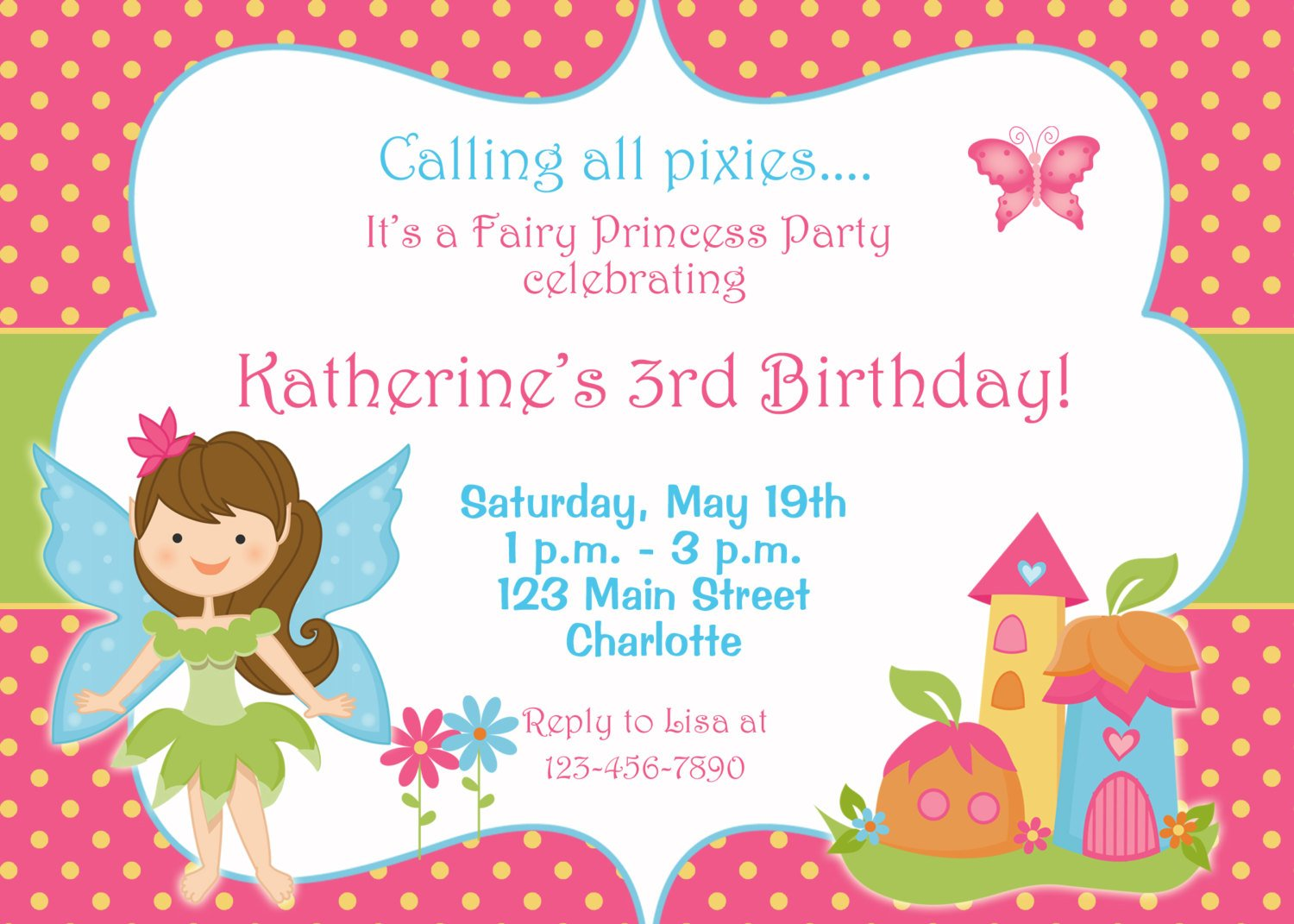 fairy free birthday invitations templates printable
