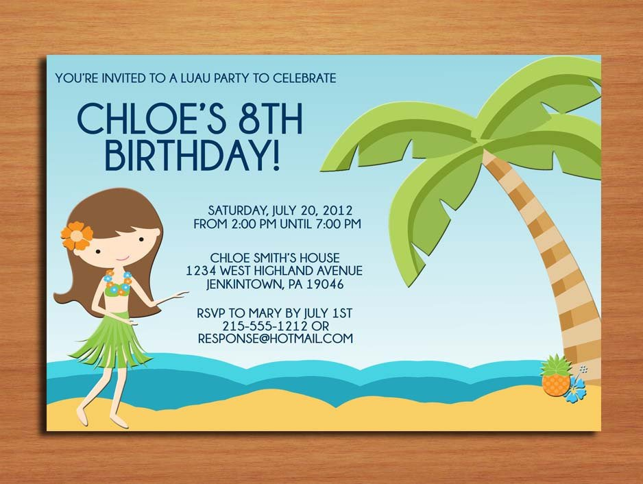 girls birthday party invitations wording samples