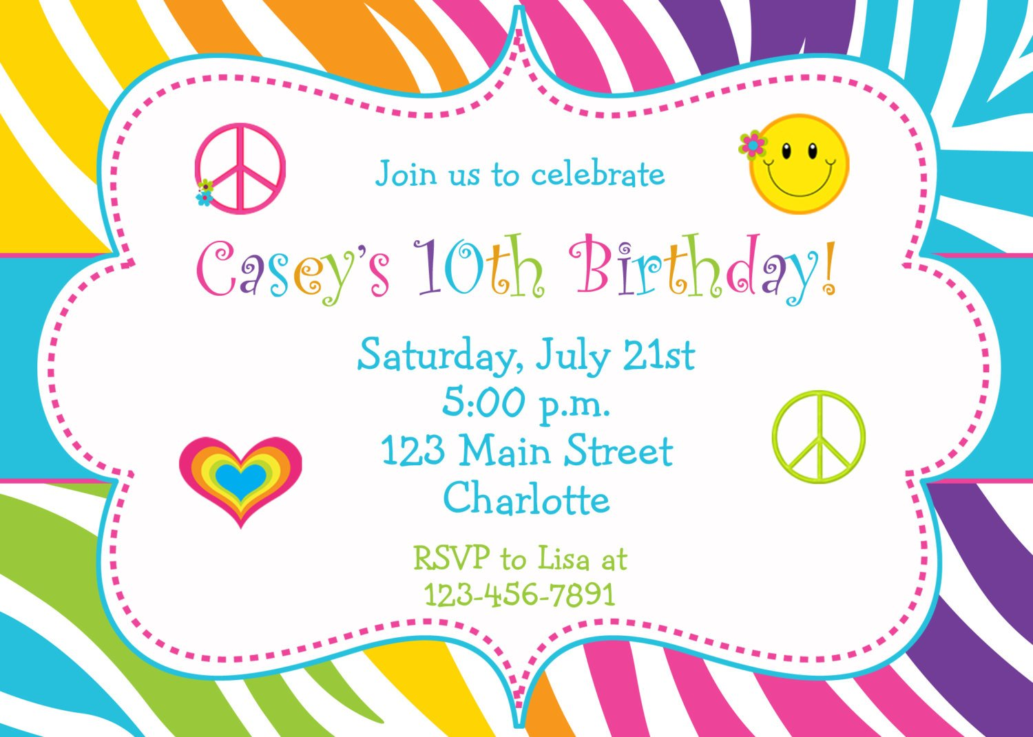 kids print birthday invitations at home