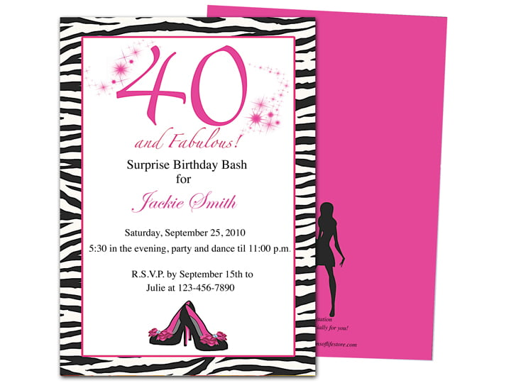 40Th Invitation Wording with awesome invitations template