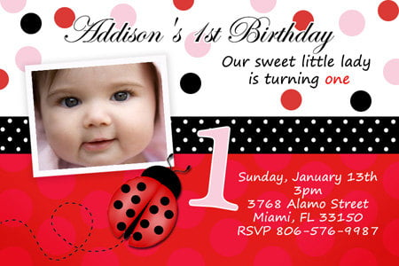 cute baby first birthday invitations wording