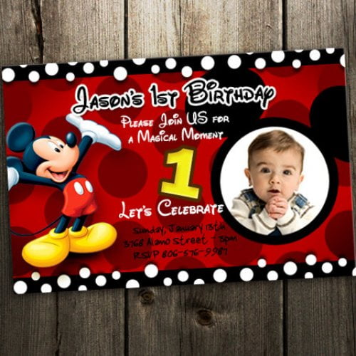 red free printable mickey mouse invitations birthday