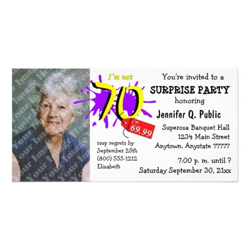 photos surprise 70th birthday party invitations