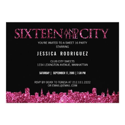 Sweet Sixteen Invite Wording is nice invitation design