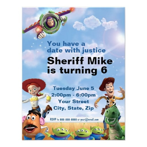 sheriff free printable toy story birthday invitations