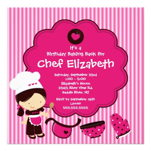grilled print birthday invitations for free