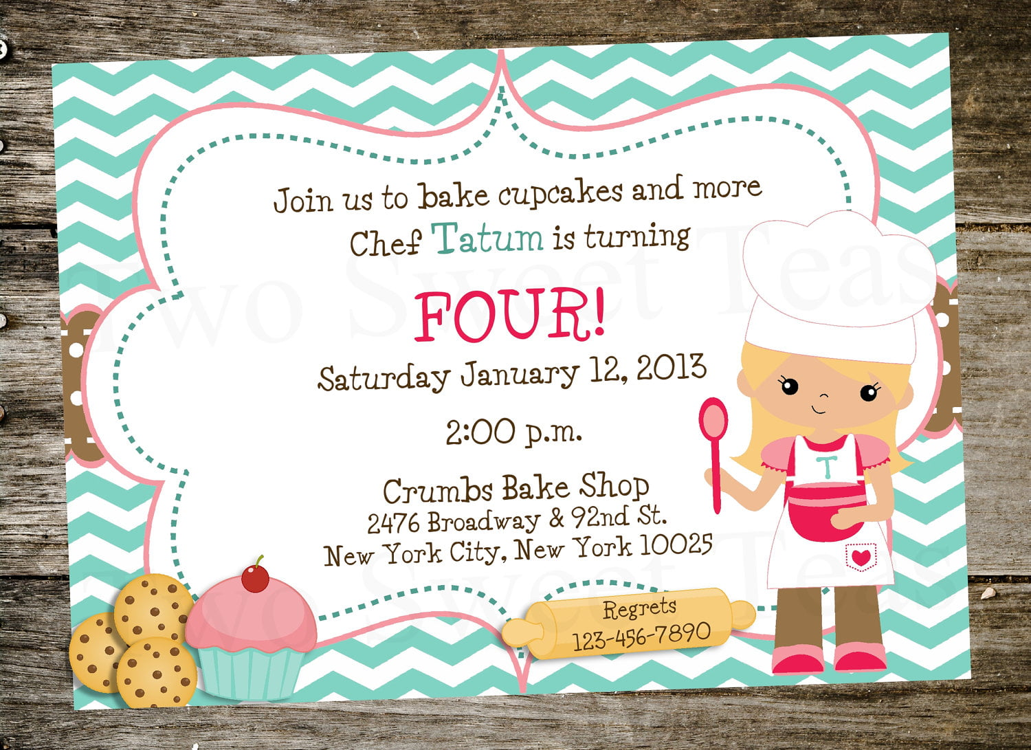 cupcakes print birthday invitations for free