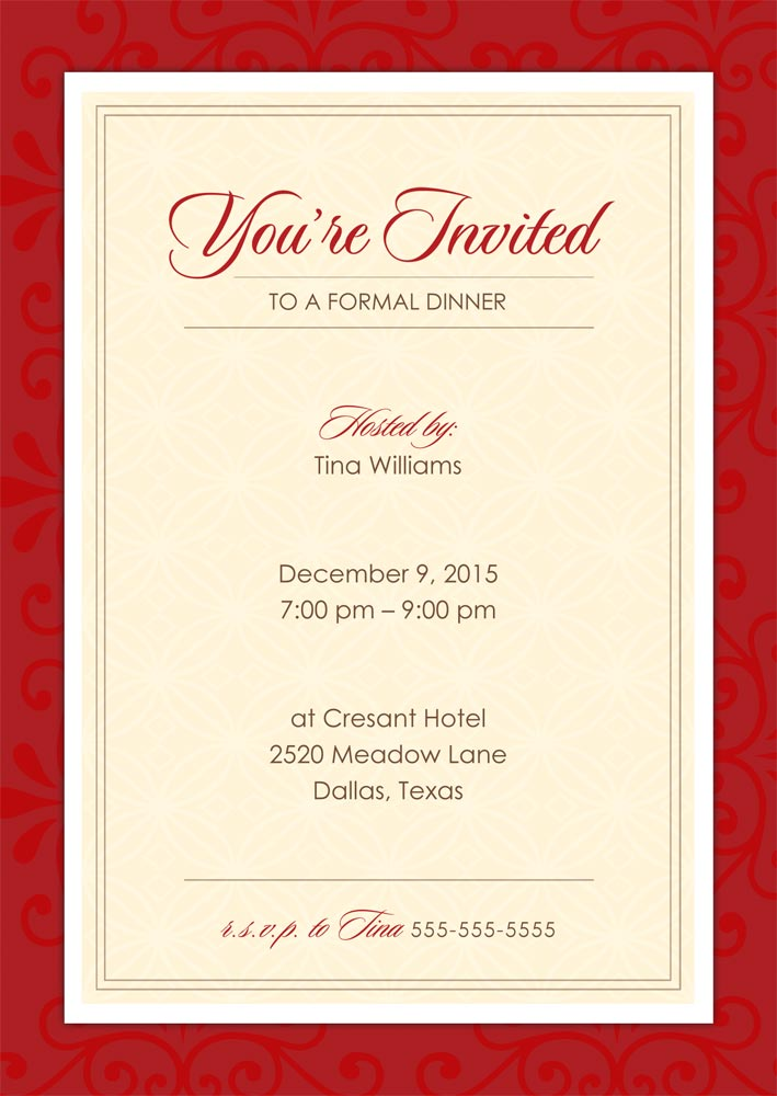 How to write Invitation Card Formal